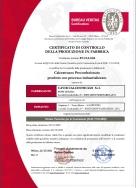certificato di controllo della produzione in fabbrica