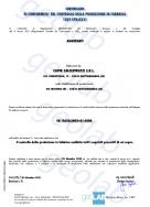 Certificato di conformità aggregati industriali riciclati