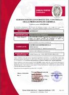 Certificato di conformità del controllo della produzione in fabbrica
